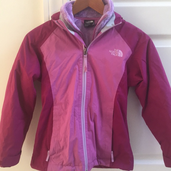 833978990 Girls North Face 2 in 1 jacket